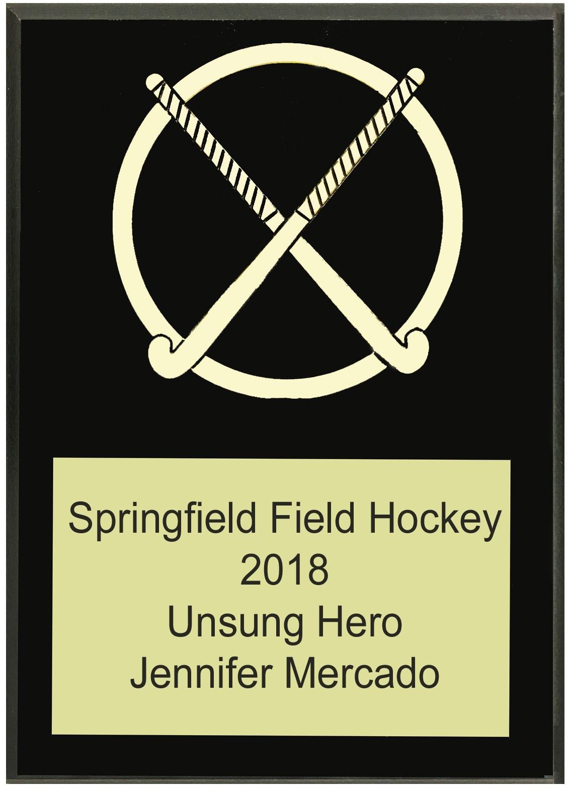 FHCS57 Crossed Stick Plaque