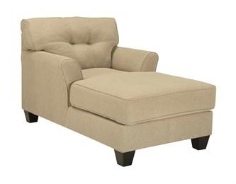 Laryn Upholstered Chaise Khaki