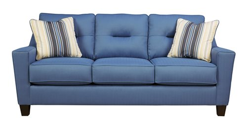 Nuvella Upholstered Queen Sofa Sleeper Blue