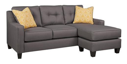 Nuvella Upholstered Queen Sofa Chaise Sleeper Gray