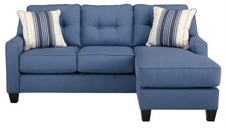 Nuvella Upholstered Sofa Chaise Blue