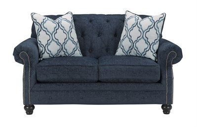 LaVernia Upholstered Loveseat Navy