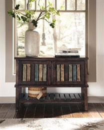 Mestler Console Rustic Brown