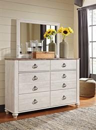 Willowton Bedroom Mirror Whitewash