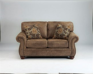 Larkinhurst Uphostered Loveseat Brown