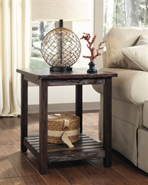 Mestler Rectangular End Table Rustic Brown