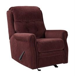 Gorham Upholstered Glider Recliner Mulberry