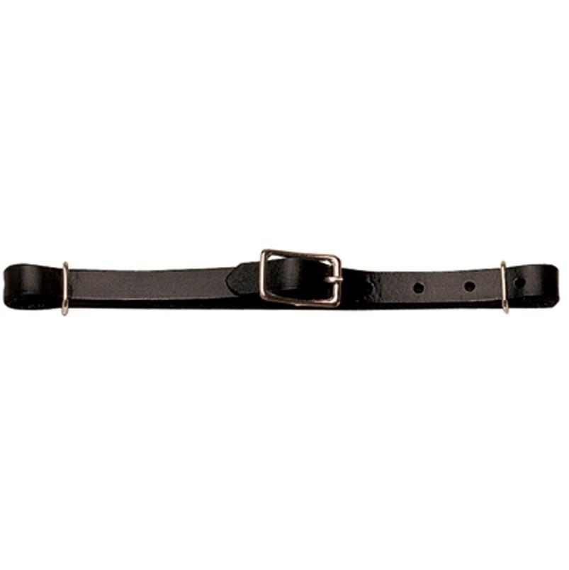 Weaver Curb Strap Leather Black