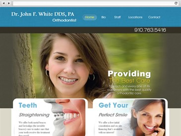 John F White DDS - Dental Web Design