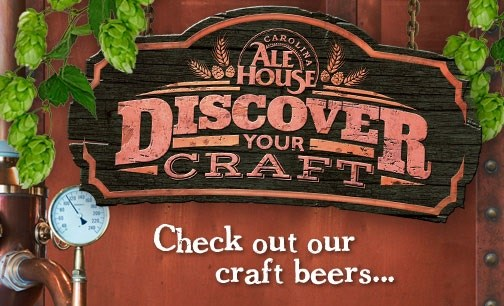 Carolina ale house food sports fun carolina ale house for Craft stores greenville nc