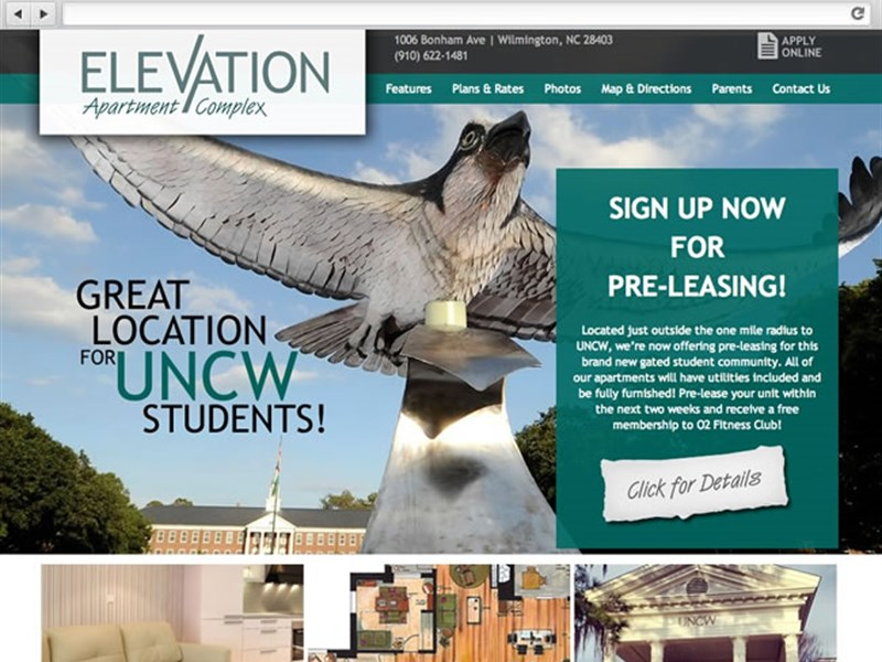 Apartment Website Design | Elevation NC | BlueTone Media