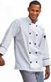 Chef Coat Madrid White W/Bl Pip