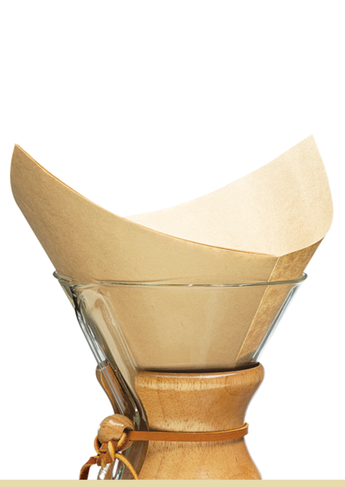 Carolina Coffee CHEMEX® Bonded Filters Pre-folded Squares
