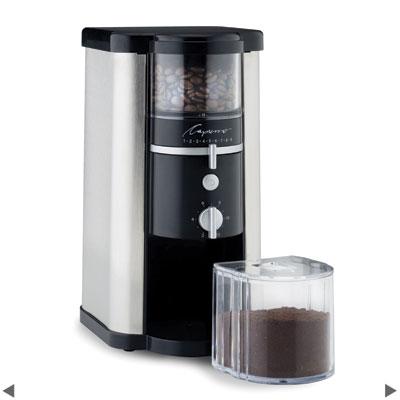 Carolina Coffee Capresso Stainless Steel Burr Grinder