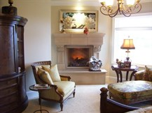 Master Suite Stone Fireplace