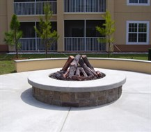 "54"" custom gas log firepit"