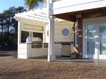 Waterway Home - Finished Outdoor Kitchen