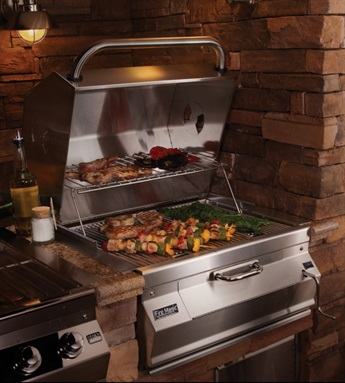 Fire Magic 540 charcoal built-in grill