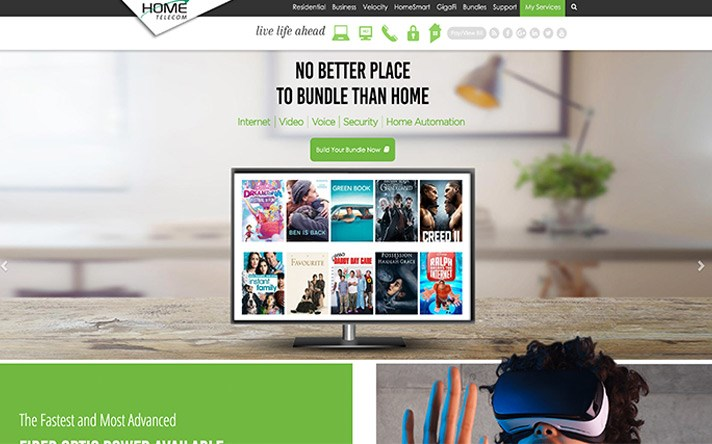 Home Telecom Website Redesign - Website Builders in Wilmington NC - Web Designer - Wilmington NC - Telecom Web Developers - BlueTone Media