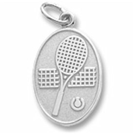 CHTR - Sterling Silver Tennis Racket Charm