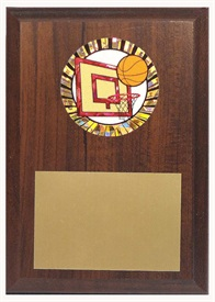 PBM 4 x 6 Basketball Plaque