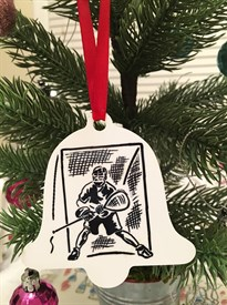 OR-G Bell Lacrosse Goalie Ornament