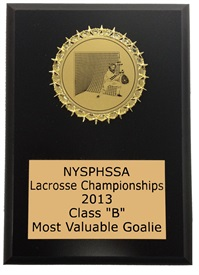 SMG57 Goalie Medallion Plaque ***CLOSEOUT***