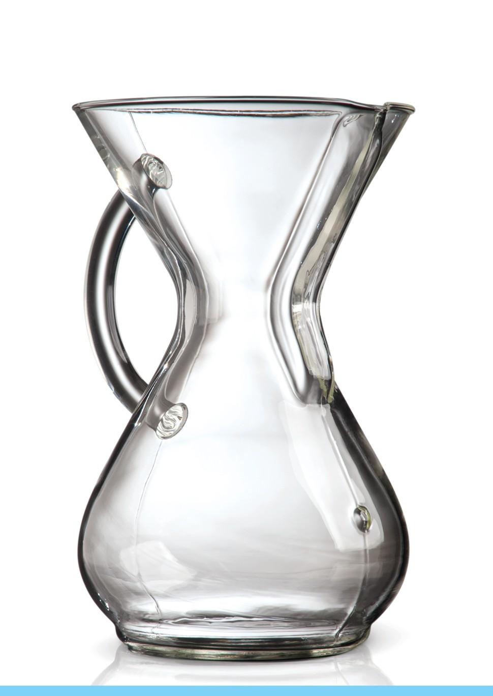 Carolina Coffee CHEMEX® 6-Cup Coffeemaker With Glass Handle