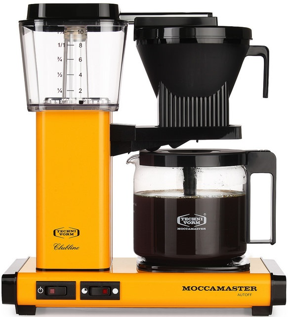 Carolina Coffee Technivorm Moccamaster KBG Automatic Drip Stop Coffee Maker with Glass Carafe - Yellow Pepper