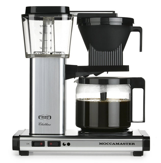 Carolina Coffee Technivorm Moccamaster KBG Automatic Drip Stop Coffee Maker with Glass Carafe - Polished Silver