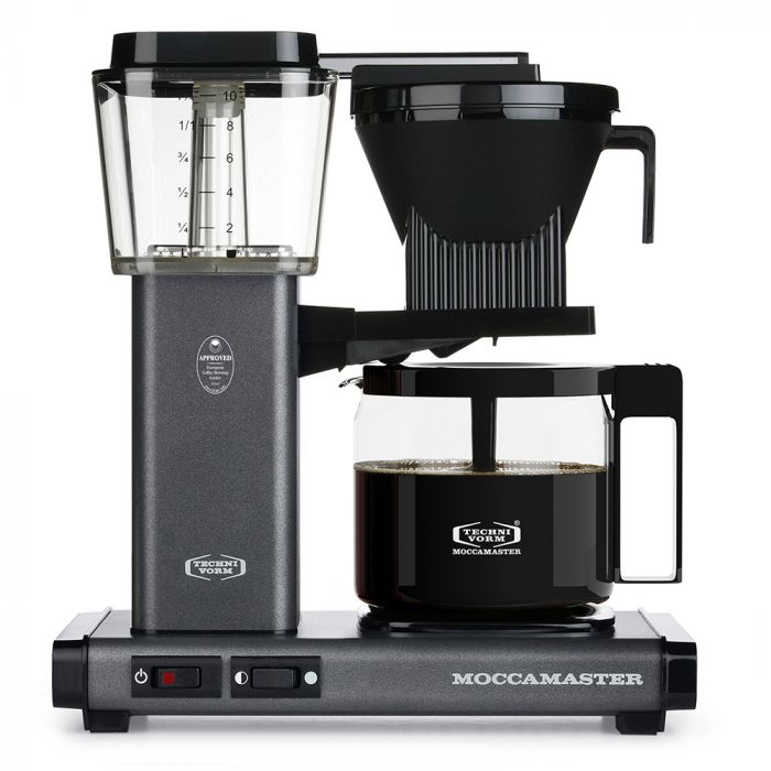 Carolina Coffee Technivorm Moccamaster KBGV Automatic Drip Stop Coffee Maker With Glass Carafe - Stone Gray