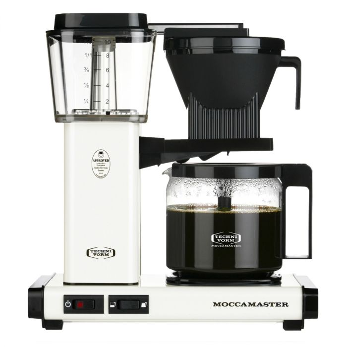 Carolina Coffee Technivorm Moccamaster KBGV Select Automatic Drip Stop Coffee Maker with Glass Carafe - Off-White