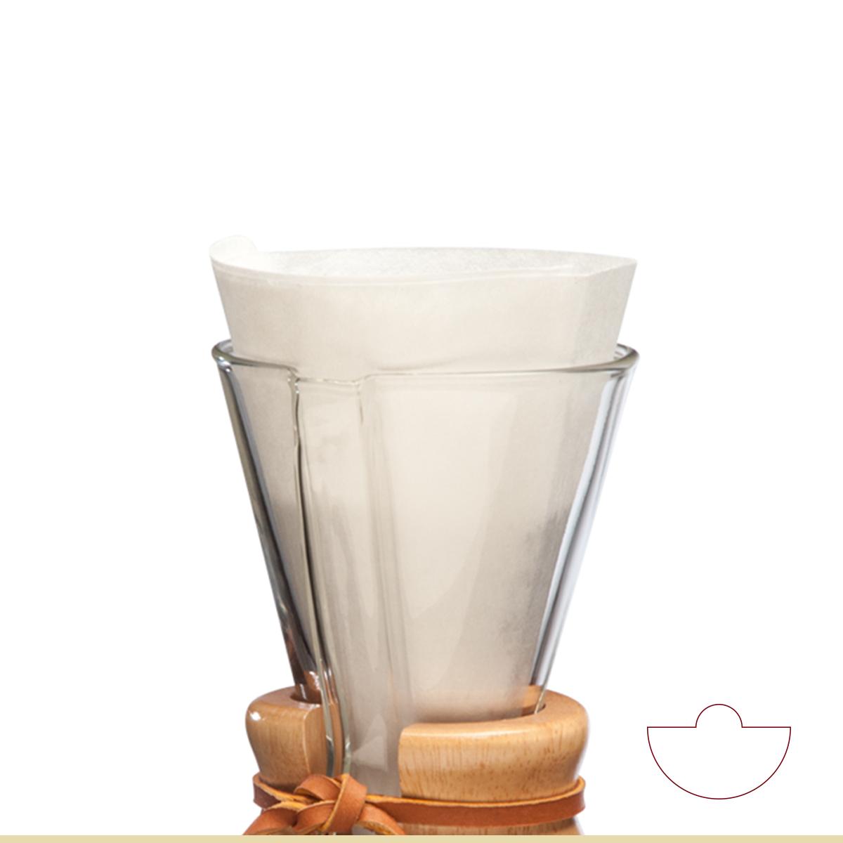 Carolina Coffee CHEMEX® BONDED FILTERS UNFOLDED HALF MOON